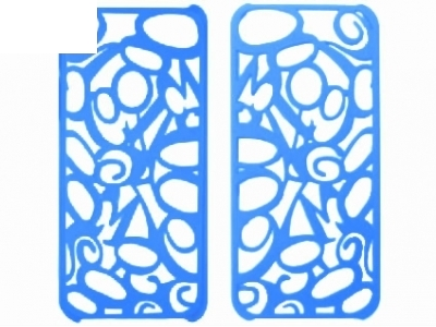 ПРОТЕКТОР РЕШЕТКА ЗА iPhone 5 - BLUE