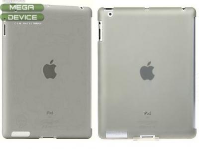 ПРОЗИРАЩ МАТИРАН PVC ГРЪБ OZAKI iCoat ЗА iPad 2 / iPad 3 - GREY TRANSPARENT