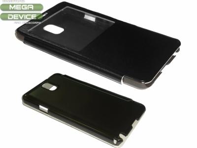 ЛУКСОЗЕН КАЛЪФ ТЕФТЕР С ПРОЗОРЧЕ ЗА SAMSUNG N9005 GALAXY NOTE 3 - BLACK