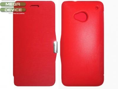 КАЛЪФ ТЕФТЕР СТРАНИЧНО ЗАТВАРЯНЕ ЗА HTC M7 ONE - RED