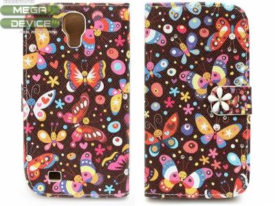 КАЛЪФ ТЕФТЕР ТИП ПОРТМОНЕ С ПЕПЕРУДКИ ЗА SAMSUNG i9500 GALAXY S4 - Butterflies