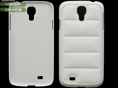 PVC ПРОТЕКТОР С КОЖЕНА ТАПИЦЕРИЯ ЗА SAMSUNG i9500 GALAXY S4 - White