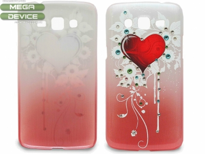 PVC ПРОТЕКТОР СЪС СЪРЦЕ ЗА SAMSUNG G7106 GALAXY GRAND 2 DUOS - Red Heart