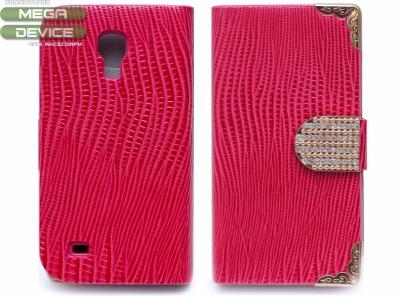 ЛАЧЕН КАЛЪФ ТЕФТЕР С КОЖЕНА ТЕКСТУРА ЗА SAMSUNG i9190 GALAXY S4 Mini - Red