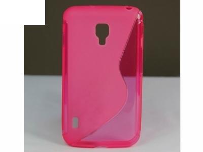 ПРОЗИРАЩ СИЛИКОНОВ ПРОТЕКТОР ЗА LG P715 P716 OPTIMUS L7 II DUAL / Optimus Duet+ - Pink Transparent