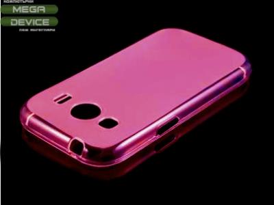 ПРОЗИРАЩ СИЛИКОНОВ ПРОТЕКТОР ЗА SAMSUNG G357 GALAXY ACE 4 / ACE STYLE LTE - Pink