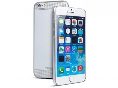 УЛТРА ТЪНЪК ЛУКСОЗЕН PVC ПРОТЕКТОР ЗА iPhone 6 4.7-inch FSHANG - Silver