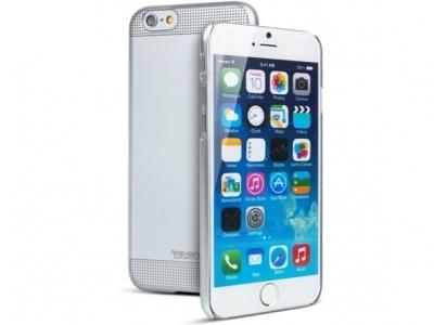 УЛТРА ТЪНЪК ЛУКСОЗЕН PVC ПРОТЕКТОР ЗА iPhone 6 Plus 5.5-inch FSHANG - Silver