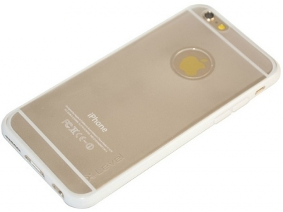 PVC ГРЪБ СЪС СИЛИКОНОВА ЛАЙСНА ЗА iPhone 6 4.7-inch X-Level - White