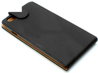КАЛЪФ ТЕФТЕР ЗА iPhone 6 Plus 5.5-inch МАТИРАНА КОЖА - Black