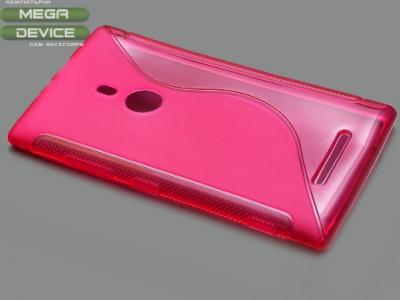 ПРОЗИРАЩ СИЛИКОНОВ ПРОТЕКТОР ЗА NOKIA LUMIA 925 - Pink Transparent