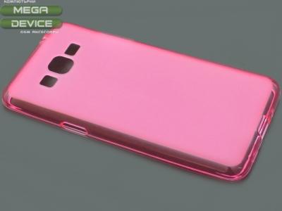 ПРОЗИРАЩ СИЛИКОНОВ ПРОТЕКТОР ЗА SAMSUNG GALAXY GRAND PRIME SM-G530H - Pink Transparent