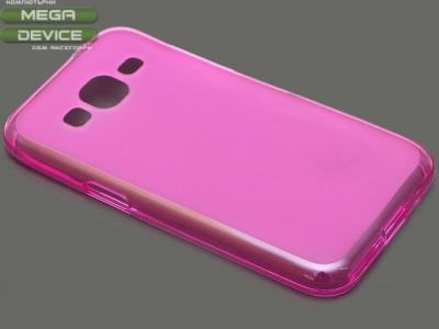 ПРОЗИРАЩ СИЛИКОНОВ ПРОТЕКТОР ЗА SAMSUNG GALAXY CORE PRIME SM-G360F - Pink Transparent