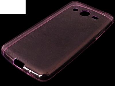 УЛТРА ТЪНЪК ПРОЗРАЧЕН СИЛИКОНОВ ПРОТЕКТОР ЗА SAMSUNG GALAXY CORE 2 G355H - Pink Transparent