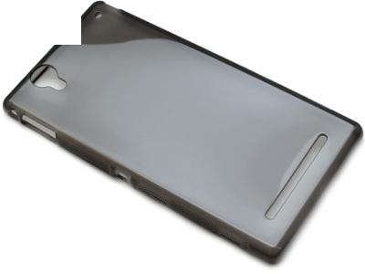 ПРОЗИРАЩ СИЛИКОНОВ ПРОТЕКТОР ЗА SONY D5322 D5306 D5303 XM50h XPERIA T2 ULTRA - Grey Transparent