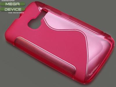 ПРОЗИРАЩ СИЛИКОНОВ ПРОТЕКТОР ЗА ALCATEL OT-3040D ONE TOUCH TRIBE - Pink Transparent