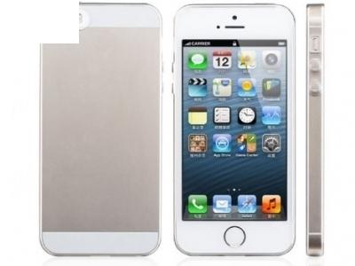 УЛТРА ТЪНЪК ПРОЗРАЧЕН СИЛИКОНОВ ПРОТЕКТОР ЗА iPhone 5 / 5S - Transparent