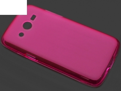 ПРОЗИРАЩ СИЛИКОНОВ ПРОТЕКТОР ЗА SAMSUNG G386F GALAXY CORE LTE - Pink Transparent