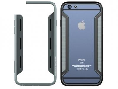 СТРАНИЧЕН PC+TPU BUMPER ЗА iPhone 6 4.7-inch - Black