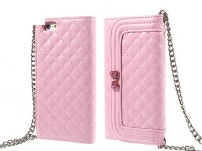ЧАНТИЧКА С ПРЕЗРАМКА ЗА iPhone 6 4.7-inch - Pink