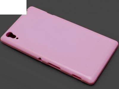 СИЛИКОНОВ ПРОТЕКТОР ЗА SONY XPERIA T3 / D5102 / D5103 / D5106 - Light Pink
