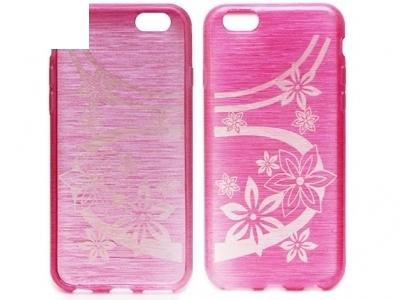 ПРОЗИРАЩ СИЛИКОНОВ ПРОТЕКТОР С КАРТИНКА ЗА iPhone 6 4.7-inch - Pink