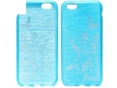 ПРОЗИРАЩ СИЛИКОНОВ ПРОТЕКТОР С КАРТИНКА ЗА iPhone 6 4.7-inch - Turquoise