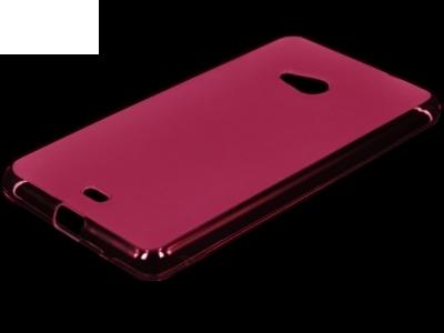 ПРОЗИРАЩ СИЛИКОНОВ ПРОТЕКТОР ЗА MICROSOFT LUMIA 535 / 535 Dual SIM RM-1090/1092 - Pink Transparent