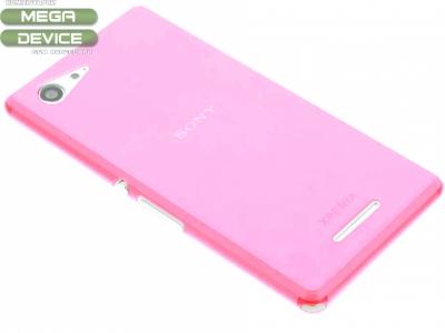 УЛТРА ТЪНЪК ПРОЗРАЧЕН СИЛИКОНОВ ПРОТЕКТОР ЗА SONY XPERIA E3 D2203/D2206/D2243/D2202 - Pink Transparent