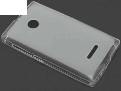 ПРОЗИРАЩ СИЛИКОНОВ ПРОТЕКТОР ЗА MICROSOFT LUMIA 435 / 435 Dual SIM RM-1070 -  Transparent