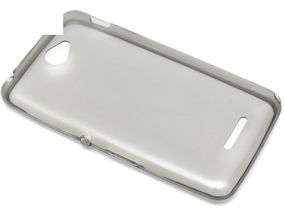 УЛТРА ТЪНЪК ПРОЗРАЧЕН СИЛИКОНОВ ПРОТЕКТОР ЗА SONY XPERIA E4 / E4 Dual SIM E2104, E2105 - Grey Transparent