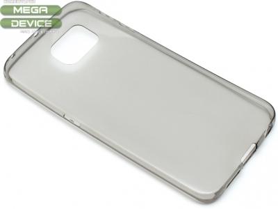 УЛТРА ТЪНЪК ПРОЗРАЧЕН СИЛИКОНОВ ПРОТЕКТОР ЗА SAMSUNG GALAXY S6 EDGE SM-G925F - Grey Transparent