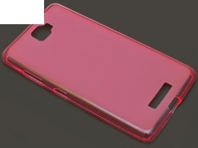 ПРОЗИРАЩ СИЛИКОНОВ ПРОТЕКТОР ЗА LENOVO S856 - Pink Transparent