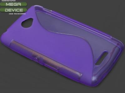 ПРОЗИРАЩ СИЛИКОНОВ ПРОТЕКТОР ЗА SONY XPERIA E4 / E4 Dual SIM E2104, E2105 - Purple Transparent