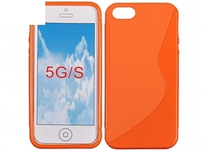 СИЛИКОНОВ ПРОТЕКТОР ЗА iPhone 5 / 5S - Orange