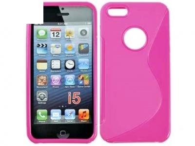 СИЛИКОНОВ ПРОТЕКТОР ЗА iPhone 5 / 5S - Pink