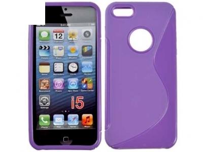 СИЛИКОНОВ ПРОТЕКТОР ЗА iPhone 5 / 5S - Purple