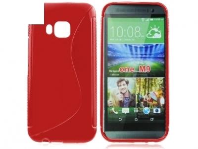 СИЛИКОНОВ ПРОТЕКТОР ЗА HTC ONE M9 - Red