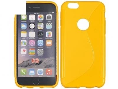 СИЛИКОНОВ ПРОТЕКТОР ЗА iPhone 6 4.7-inch - Yellow