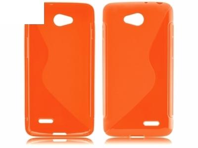 СИЛИКОНОВ ПРОТЕКТОР ЗА LG L90 D405 - Orange