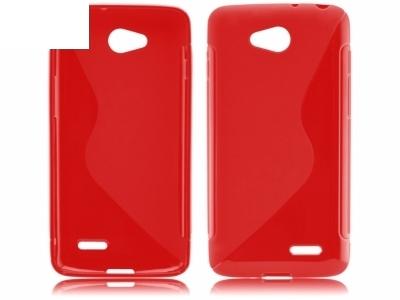 СИЛИКОНОВ ПРОТЕКТОР ЗА LG L90 D405 - Dark Red