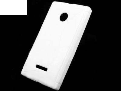 SILICON PROTECTOR για το Microsoft LUMIA 435 / Dual SIM RM-1070 - Λευκή