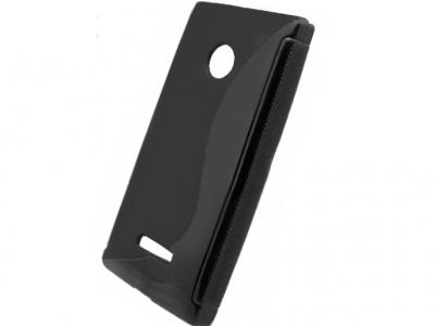 SILICON PROTECTOR για το Microsoft LUMIA 435 / Dual SIM RM-1070 - μαύρο