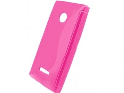 SILICON PROTECTOR για το Microsoft LUMIA 435 / Dual SIM RM-1070 - Ροζ