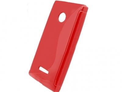 SILICON PROTECTOR για το Microsoft LUMIA 435 / Dual SIM RM-1070 - Κόκκινο