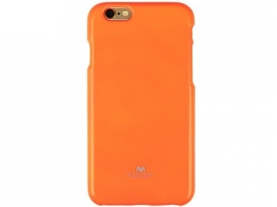 БЛЕСТЯЩ СИЛИКОНОВ ПРОТЕКТОР Mercury ЗА iPhone 6 Plus - 5.5-inch - Fluorsecent Orange