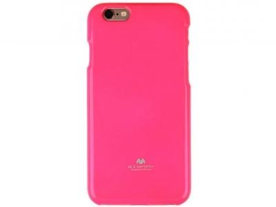 БЛЕСТЯЩ СИЛИКОНОВ ПРОТЕКТОР Mercury ЗА iPhone 6 Plus - 5.5-inch - Fluorsecent Pink