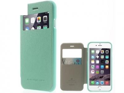 УЛТРА ТЪНЪК КАЛЪФ ТЕФТЕР Mercury WOW Bumper View ЗА iPhone 6 Plus 5.5-inch - Mint