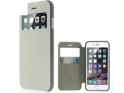 УЛТРА ТЪНЪК КАЛЪФ ТЕФТЕР Mercury WOW Bumper View ЗА iPhone 6 Plus 5.5-inch - White