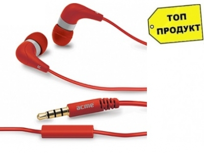 HEADPHONES WITH MICROPHONE ACME HE15B - RED